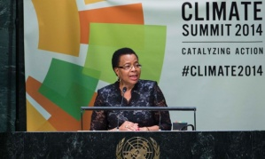 UCT chancellor Graca Machel addresses the United Nations on climate change