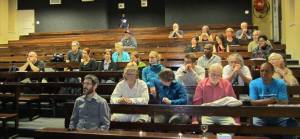 Our audience, In between multiple power cuts at Howard College UKZN in Durban