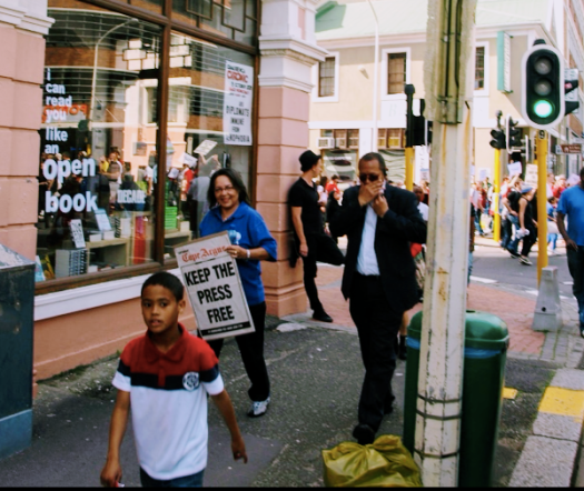 Cape Town Mayor Patricia de Lille at a 2011 protest against the proposed 'Secrecy Bill'. Pic: David Le Page.