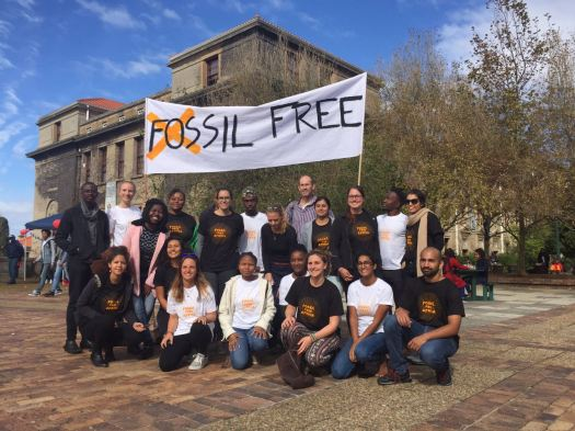 2017 May 11UCT CAP GCI students global divestment mobilisation