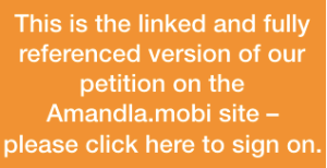 Amandla.mobi divestment petition
