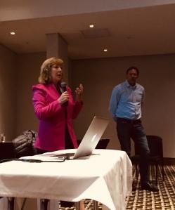PRI CEO Fiona Reynolds speaking in Johannesburg